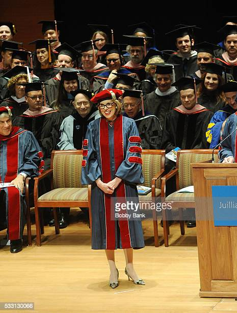 Actress Christine Baranski attends The Juilliard School 111th Commencement Ceremony at Juilliard School on May 20 2016 in New York City