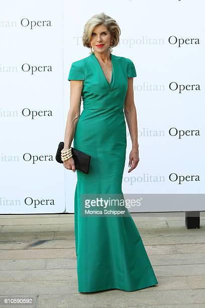 Actress Christine Baranski attends the Met Opera 20162017 Season Opening Performance Of Tristan Und Isolde at The Metropolitan Opera House on...
