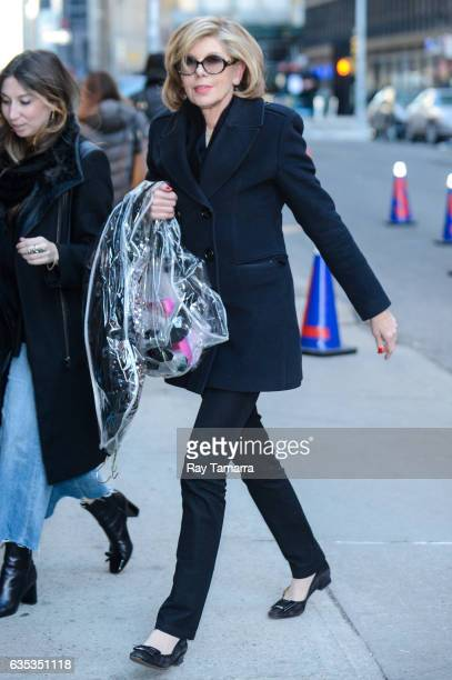 Actress Christine Baranski enters the 'The Late Show With Stephen Colbert' taping at the Ed Sullivan Theater on February 14 2017 in New York City