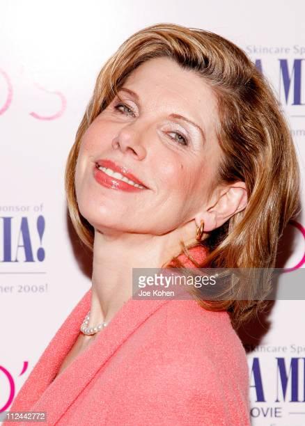 "Actress Christine Baranski hosts the ""Mamma Mia!"" contest on April 28, 2008 at Spotlight Live in New York City."