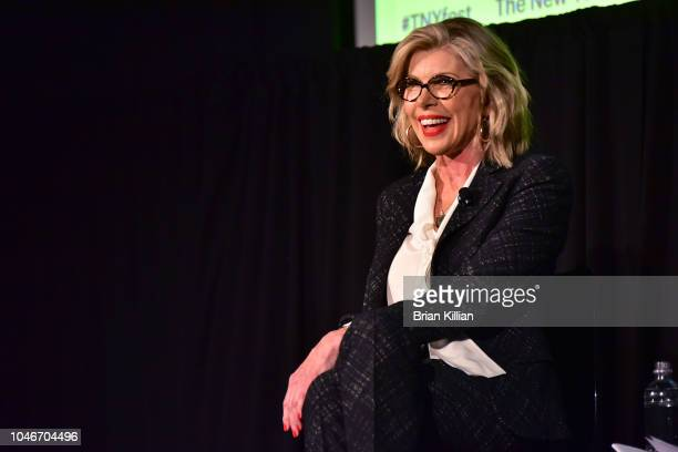 Actress Christine Baranski is interviewed during the 2018 New Yorker Festival Christine Baranski In Conversation With The New Yorker's Emily Nussbaum...