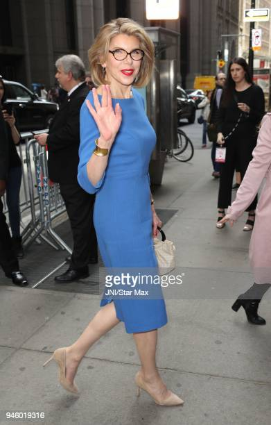 Actress Christine Baranski is seen on April 13 2018 in New York City