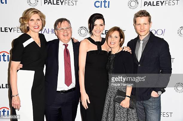 Actress Christine Baranski producer Robert King Julianna Margulliesproducer Michelle King and Matt Czuchry arrive at The Paley Center For Media's...