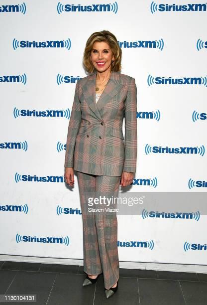Actress Christine Baranski visits SiriusXM Studios on March 12 2019 in New York City