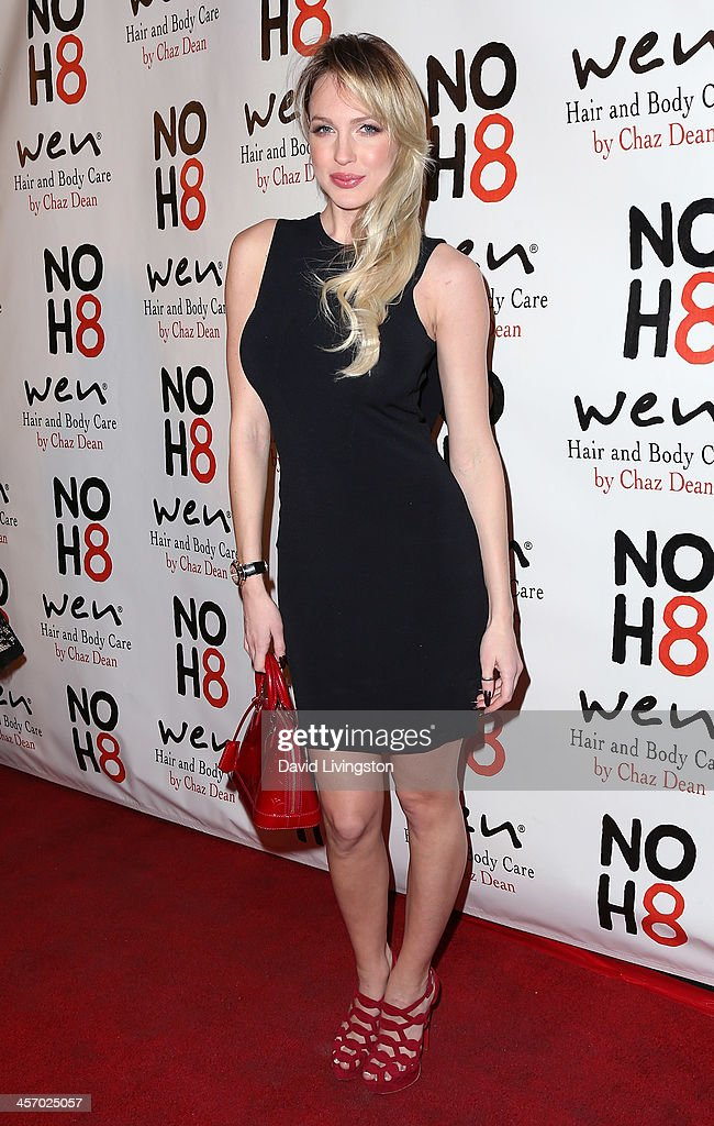 Actress Christine Bently attends the NOH8 Campaign 5th Anniversary Celebration at Avalon on December 15, 2013 in Hollywood, California.