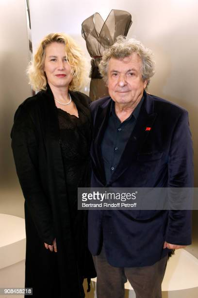 Actress Christine Bergstrom and her husband professor Jacques Leibowitch attend the Azzedine Alaia Je Suis Couturier Exhibition as part of Paris...