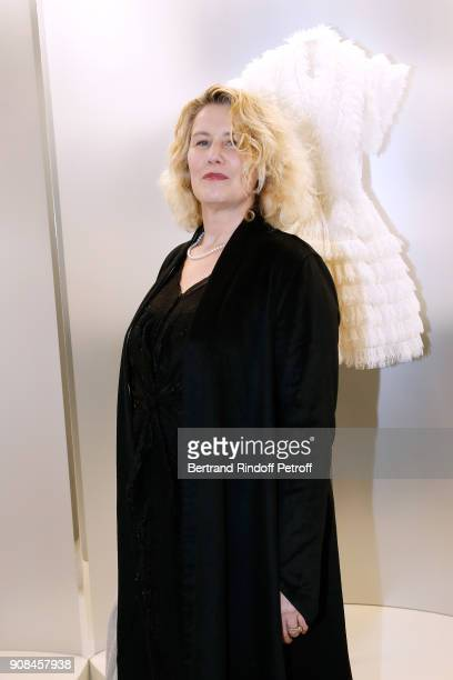 Actress Christine Bergstrom attends the Azzedine Alaia Je Suis Couturier Exhibition as part of Paris Fashion Week Held at Azzedine Alaia Gallery on...
