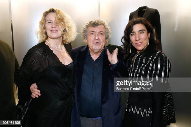 Actress Christine Bergstrom her husband professor Jacques Leibowitch and Choreographer Blanca Li attend the Azzedine Alaia Je Suis Couturier...