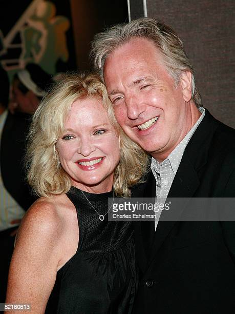 Actress Christine Ebersole and actor Alan Rickman attend the premiere of Bottle Shock at Cinema 2 on August 4 2008 in New York City