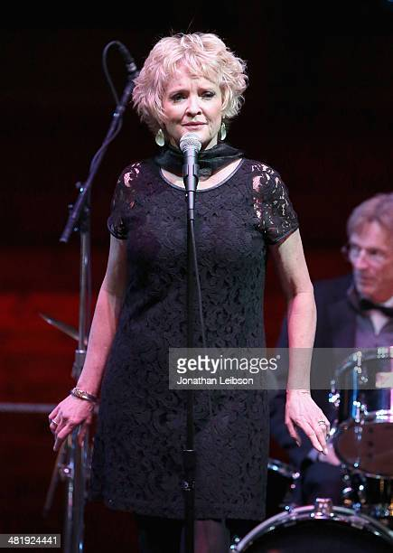 Actress Christine Ebersole performs onstage at The Music Center's 50th Anniversary Launch Party held at The Dorothy Chandler Pavilion on April 1 2014...