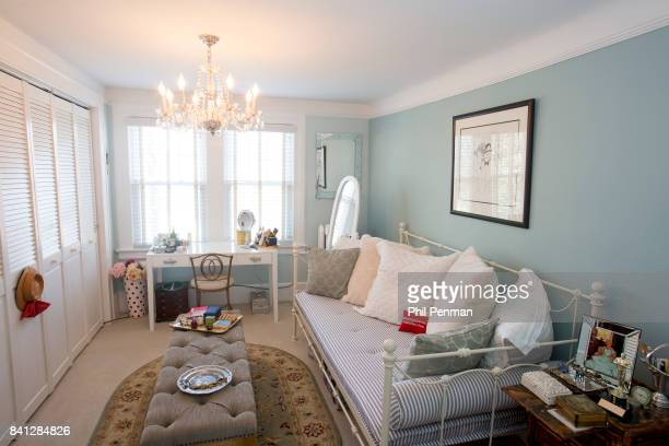 Actress Christine Ebersole's home is photographed for Closer Weekly Magazine on April 14 2016 in New Jersey Bedroom