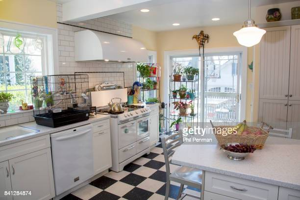 Actress Christine Ebersole's home is photographed for Closer Weekly Magazine on April 14 2016 in New Jersey The design inspiration for the kitchen...