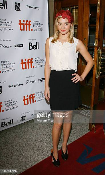 Actress Christine Evangelista arrives to 'The Joneses' premiere during the 2009 Toronto International Film Festival held at The Elgin on September 13...