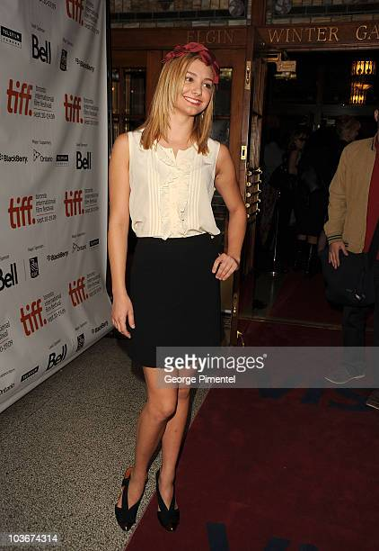 Actress Christine Evangelista attends 'The Joneses' Premiere at the Visa Screening Room At The Elgin Theatre during 2009 Toronto International Film...