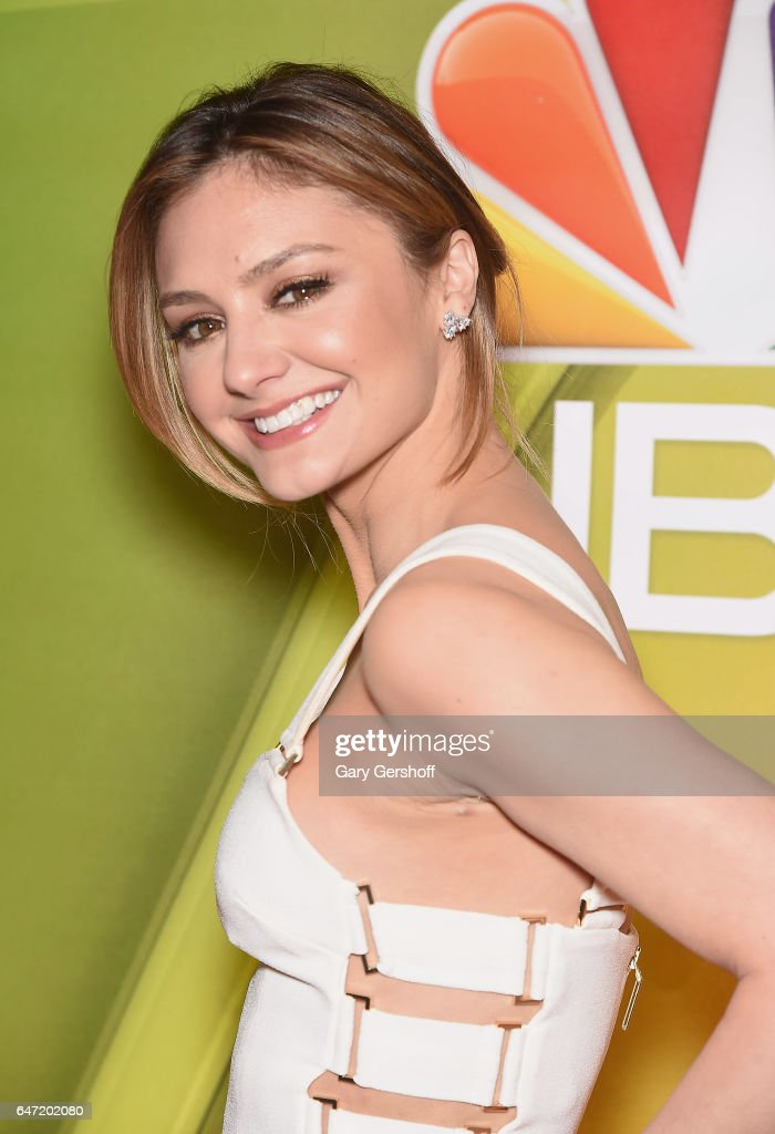 Actress Christine Evangelista attends the NBCUniversal Press Junket at the Four Seasons Hotel New York on March 2, 2017 in New York City.
