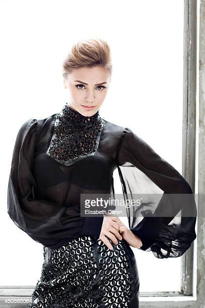 Actress Christine Evangelista is photographed for Self Assignment on January 1 2013 in Los Angeles California