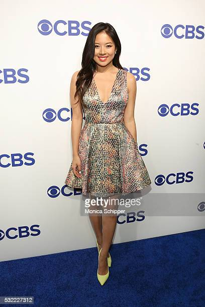 Actress Christine Ko of CBS television series The Great Indoors attends the 2016 CBS Upfront at Oak Room on May 18 2016 in New York City