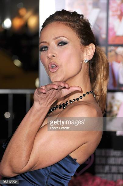 Actress Christine Lakin arrives at the 'Valentine's Day' Los Angeles premiere held at Grauman's Chinese Theatre on February 8 2010 in Hollywood...