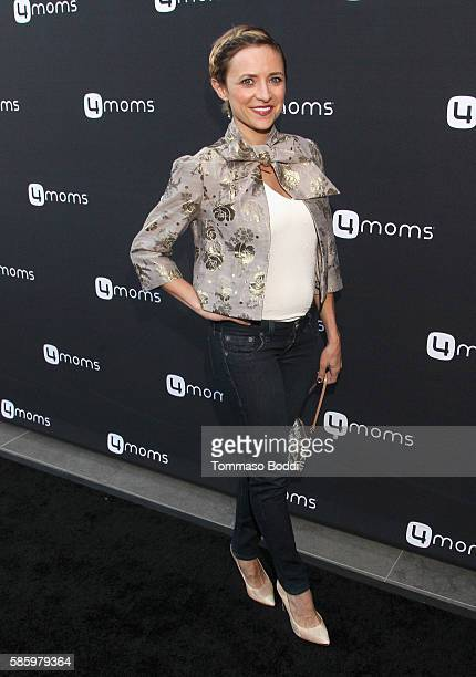 Actress Christine Lakin attends the 4moms Car Seat launch event at Petersen Automotive Museum on August 4 2016 in Los Angeles California
