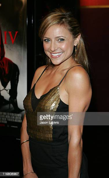Actress Christine Lakin attends the 'Saw IV' Los Angeles Cast and Crew Screening at Mann's Chinese 6 on October 23 2007 in Hollywood California
