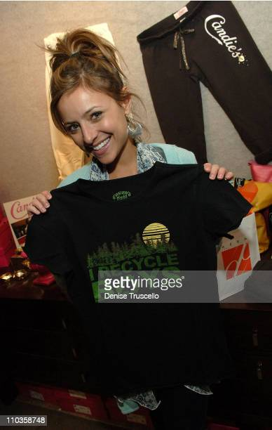Actress Christine Lakin visits the Iconix Gifting for a Cause Suite produced by Backstage Creations on January 21 2008 in Park City Utah