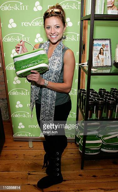 Actress Christine Lakin visits the Revaleskin Rejuvenation Lounge at the Phoenix Gallery on January 21 2008 in Park City Utah