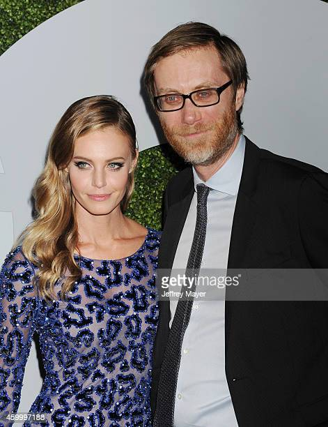 Actress Christine Marzano and writer/actor Stephen Merchant arrive at the 2014 GQ Men Of The Year Party at Chateau Marmont on December 4 2014 in Los...
