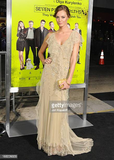 Actress Christine Marzano arrives at the Los Angeles Premiere 'Seven Psychopaths' at Mann Bruin Theatre on October 1 2012 in Westwood California