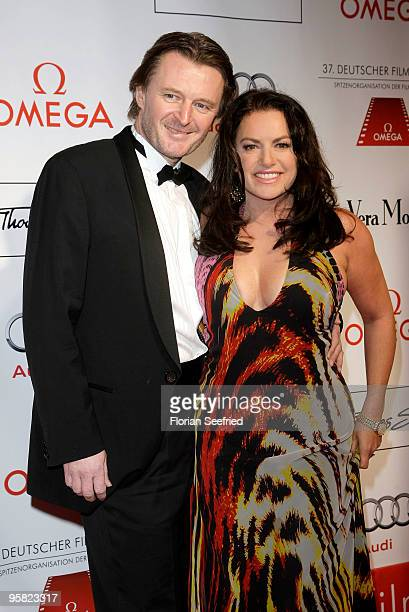 Actress Christine Neubauer and husband Lambert Dintzinger attend the 37 th German Filmball 2010 at the Hotel Bayerischer Hof on January 16 2010 in...