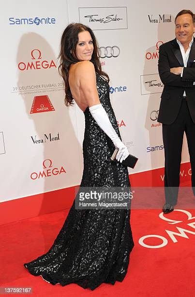 Actress Christine Neubauer and Nico Hoffmann attends the German Filmball at the Hotel Bayerischer Hof on January 21 2012 in Munich Germany