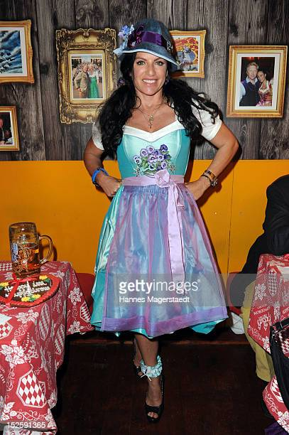 Actress Christine Neubauer attends the Oktoberfest beer festival at Hippodrom on September 22, 2012 in Munich, Germany.