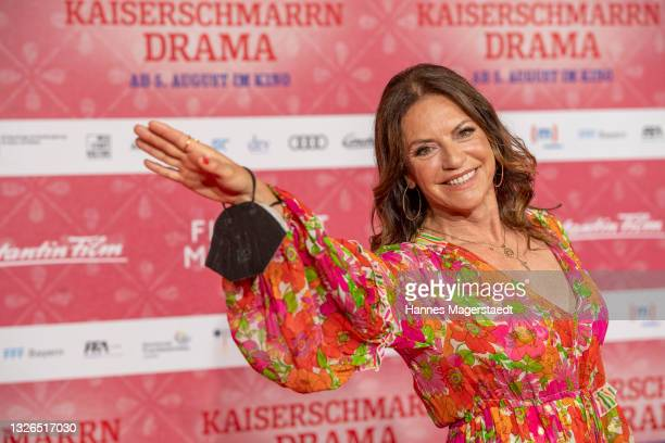 """Actress Christine Neubauer attends the premiere of """"Kaiserschmarrndrama"""" during the 38th Munich Film Festival on July 01, 2021 in Munich, Germany."""