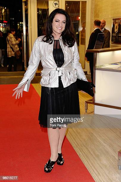 Actress Christine Neubauer attends the premiere of 'Haltet Die Welt An' at Astor Film Lounge on March 24, 2010 in Berlin, Germany.