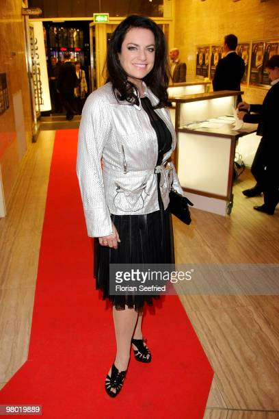 Actress Christine Neubauer attends the premiere of 'Haltet Die Welt an' at cinema Astor Film Lounge on March 24, 2010 in Berlin, Germany.