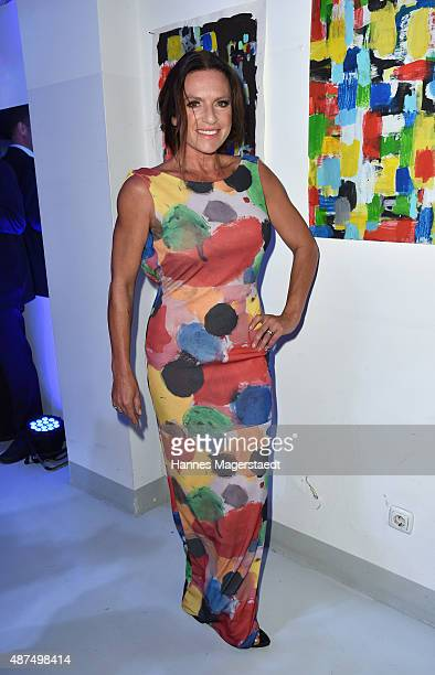 Actress Christine Neubauer attends the 'Susanne Wiebe Fashion & Art Show' on September 9, 2015 in Munich, Germany.