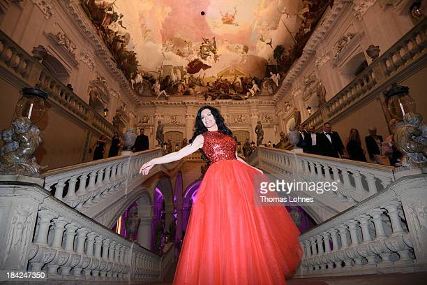 Actress Christine Neubauer poses during the Minx fashion night at Residenz on October 12 2013 in Wuerzburg Germany The benefit of the charity gala is...