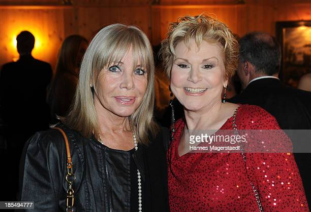 Actress Christine Schuberth and singer Peggy March attend the presentation of Manfred Baumann New Calendar 2014 at the King's Hotel Center on October...
