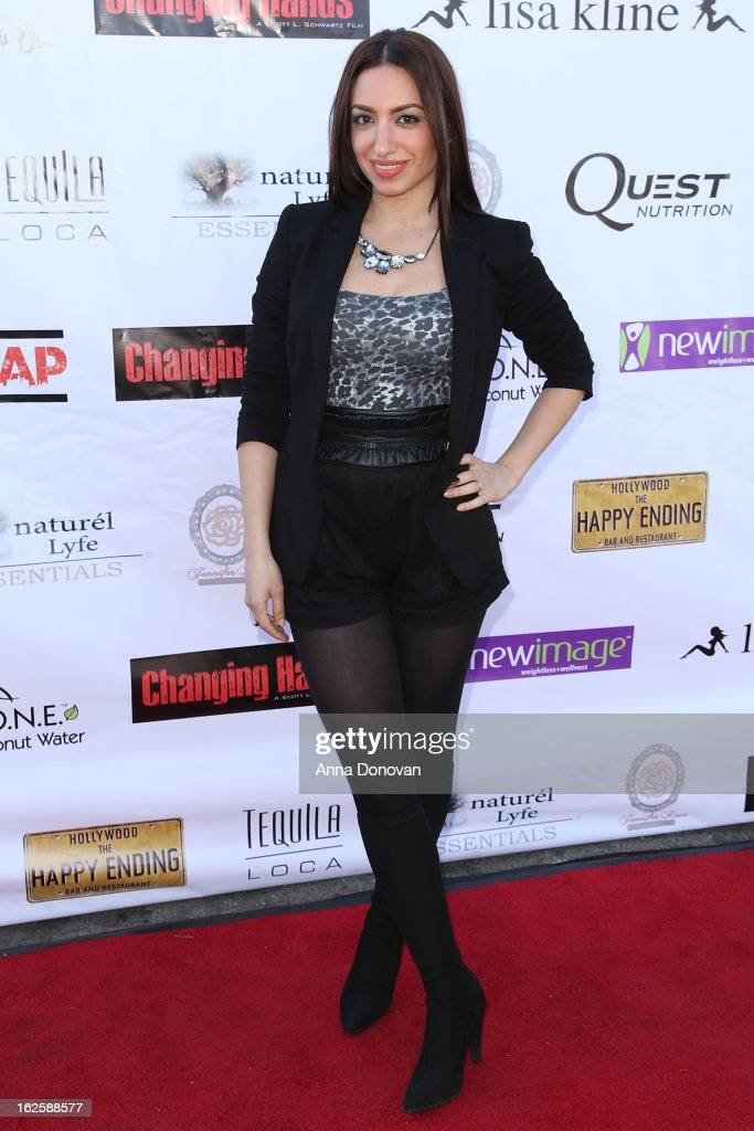 Actress Christine Solomon attends the Los Angeles premiere of the movie 'Changing Hands' at The Happy Ending Bar & Restaurant on February 24, 2013 in Hollywood, California.