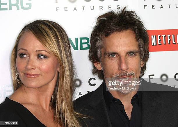 Actress Christine Taylor and actor Ben Stiller attend the 'Greenberg' film premiere at the ArcLight Hollywood Cinemas on March 18 2010 in Hollywood...
