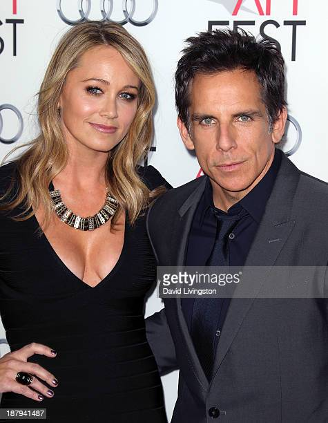 Actress Christine Taylor and husband actor Ben Stiller attend the AFI FEST 2013 presented by Audi premiere of 'The Secret Life of Walter Mitty' at...