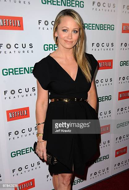Actress Christine Taylor arrives at the premiere of Greenberg presented by Focus Features at ArcLight Hollywood on March 18 2010 in Hollywood...