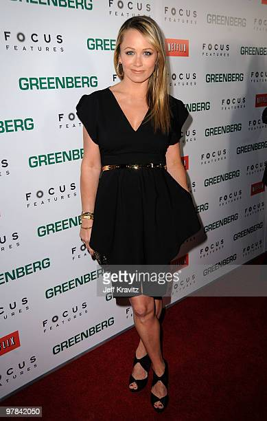 Actress Christine Taylor arrives at the premiere of 'Greenberg' presented by Focus Features at ArcLight Hollywood on March 18 2010 in Hollywood...