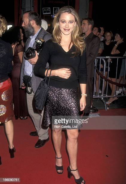 Actress Christine Taylor attends the 'Boogie Nights' Hollywood Premiere on October 15 1997 at Mann's Chinese Theatre in Hollywood California