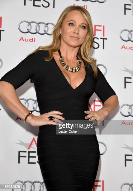 Actress Christine Taylor attends the The Secret Life Of Walter Mitty premiere during AFI FEST 2013 presented by Audi at TCL Chinese Theatre on...