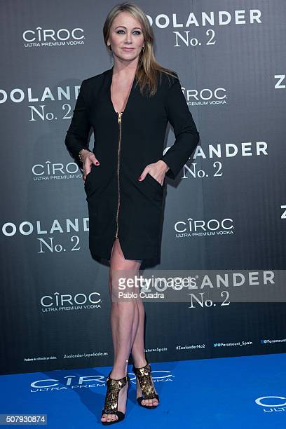 Actress Christine Taylor attends the 'Zoolander No2' premiere at the Capitol Cinema on February 1 2016 in Madrid Spain