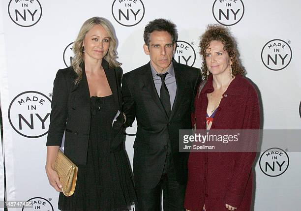 Actress Christine Taylor husband Ben Stiller and actress Amy Stiller attend the 2012 Made In NY Awards at Gracie Mansion on June 4 2012 in New York...
