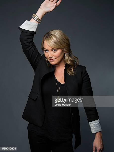Actress Christine Taylor is photographed for Glamourcom on April 16 2016 in New York City PUBLISHED IMAGE