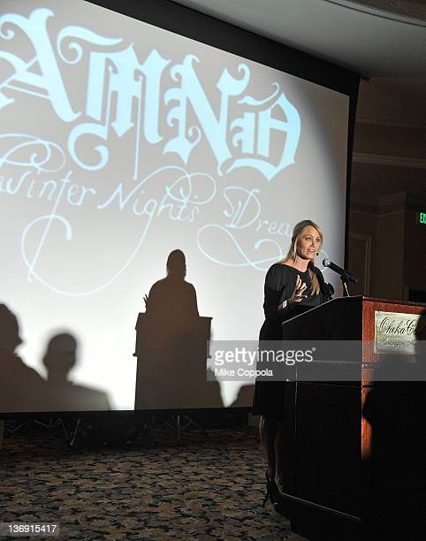 Actress Christine Taylor speaks at the 2012 A Midwinter Night's Dream Gala at Oheka Castle on January 12 2012 in Huntington New York