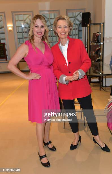 Actress Christine Zierl and Ilona Grübel attend the grand opening of the boutique Muenchen Mitte on April 8 2019 in Munich Germany