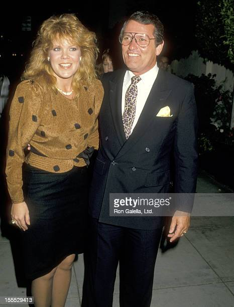 Actress Christopher Norris and husband Walter Danley attend Warren Beatty's Party on November 11 1987 at The Bistro in Beverly Hills California